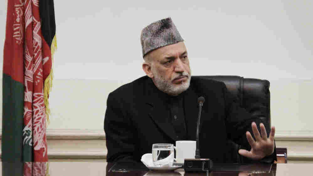 """Afghan President Hamid Karzai lashed out at the United States on Friday, saying he is at the """"the end of the rope"""" because of the lack of U.S. cooperation into a probe of a killing spree allegedly carried out by an American soldier."""