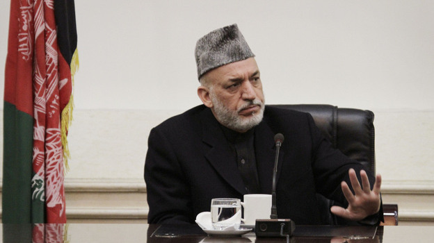 Afghan President Hamid Karzai lashed out at the United States on Friday, saying he is at the