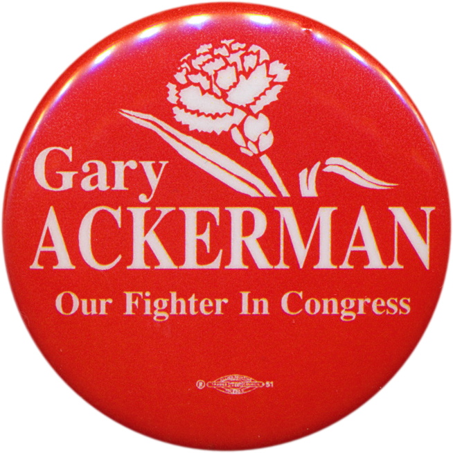 Gary Ackerman button
