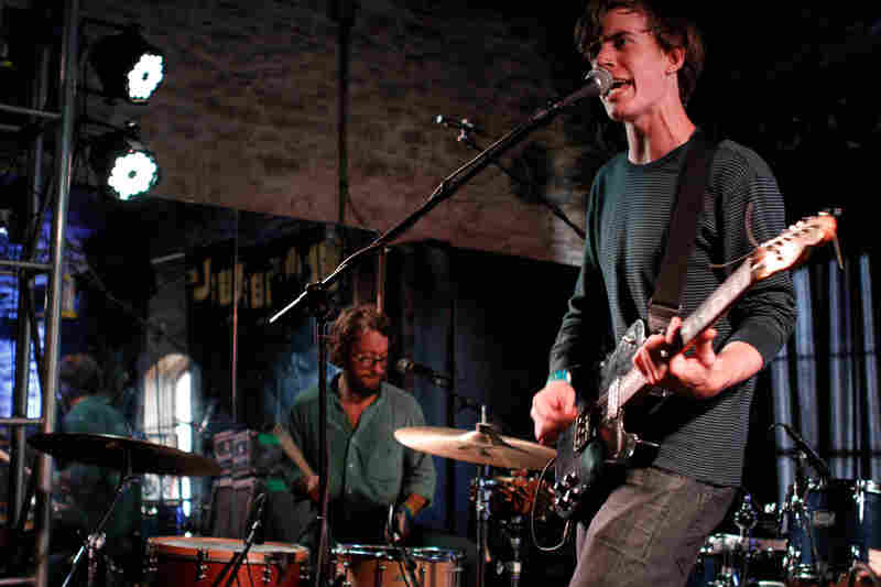 Keepin' it simple: On Saturday night, Yellow Ostrich's minimalist drum kit and spare guitar effects put the focus on the songs at Baeblemusic's show at Knuckle Rambler Lounge.