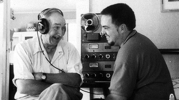 Alan Lomax (right) with musician Wade Ward during the Southern Journey recordings, 1959-1960. (Courtesy of Alan Lomax Archive)