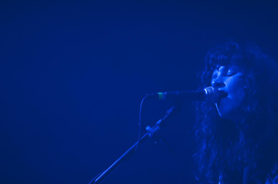 Molly Hamilton's haunting croon enveloped the Captured Tracks showcase on Saturday with her band, Widowspeak.