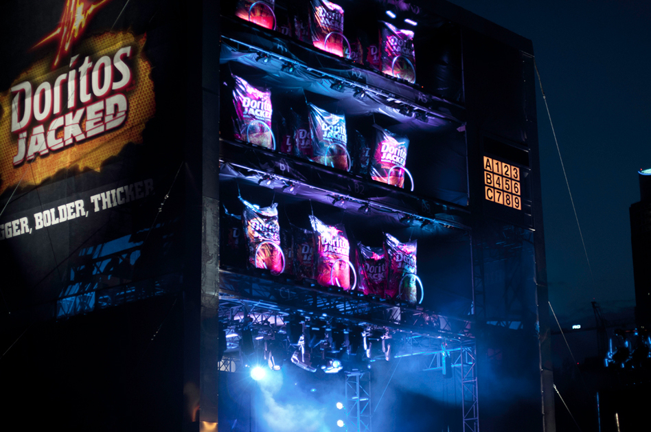 Like Nero before his coliseum, if a band just wasn't cutting it, the giant vending machine doubling as a stage dispensed giant bags of Doritos on emaciated indie-rockers below.