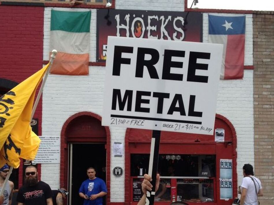 Hoek's Death Metal Pizza, offering good pizza and free Metal concerts (npr)