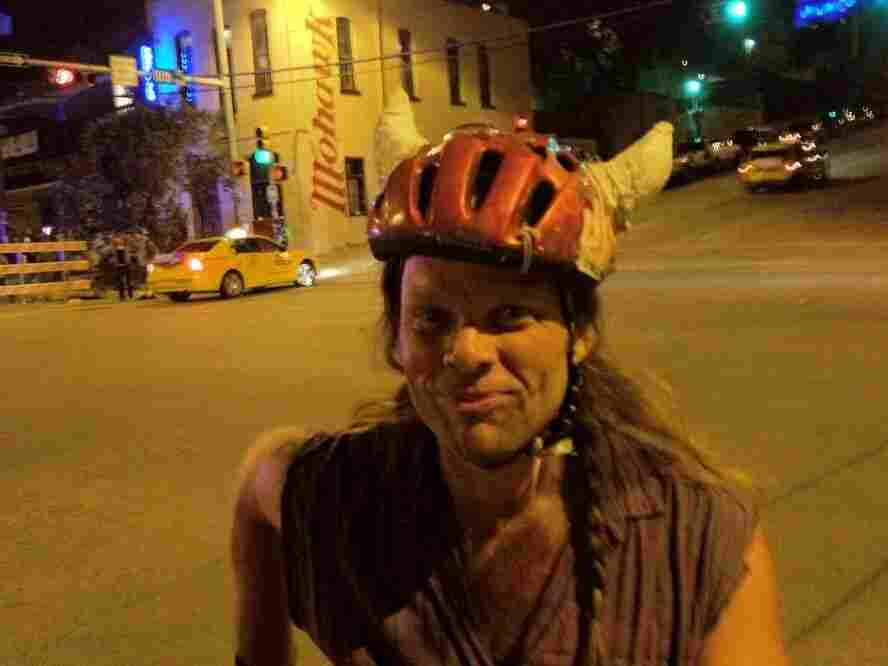 Thor is a member of Shearwater and Swans. I saw him biking down the street at SXSW.