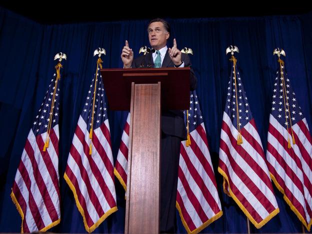 Mitt Romney speaks at the University of Chicago on Monday.