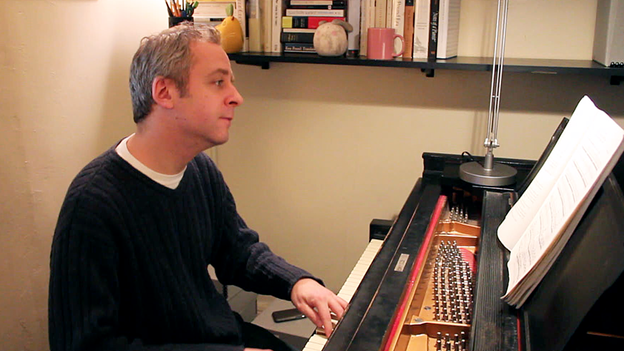 Jeremy Denk performs Bach's Goldberg Variations in his New York City apartment (for NPR)