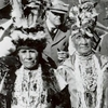 In an undated photo, members of the Siletz tribe gather for the Siletz Feather Dance in Newport, Ore. The tribe is using digital tools to help preserve its native language.