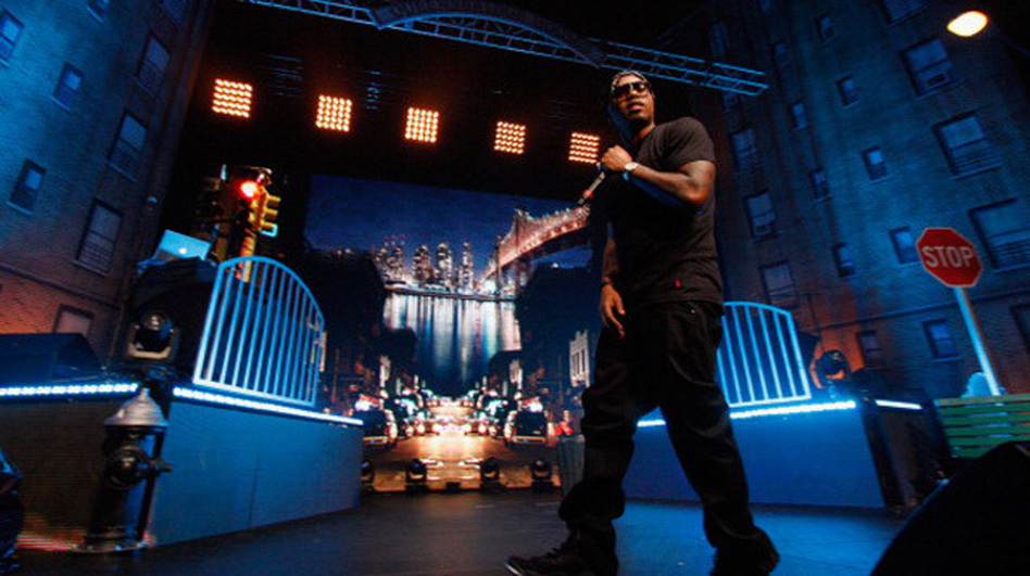 Nas performs his classic 1994 album, Illmatic, on stage at the Moody Theater in Austin, Texas during the 2012 SXSW music conference. (Getty Images)