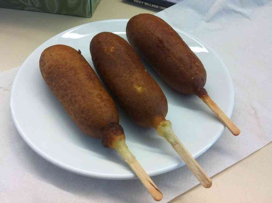 "In Germany, sausage on a stick is known as ""lolliwurst."""
