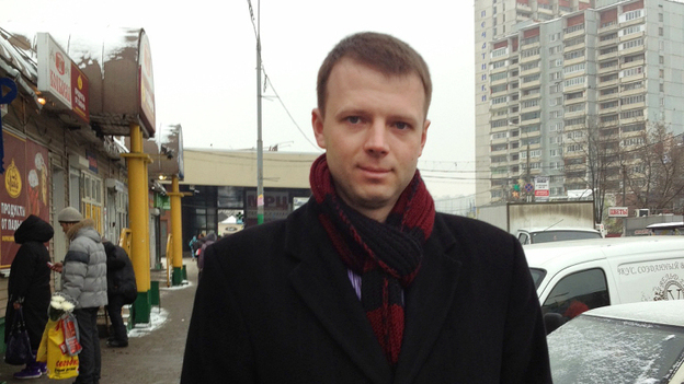 Maxim Motin, 28, was elected to a municipal council in Pechatniki, his working class district in Moscow.  (NPR)