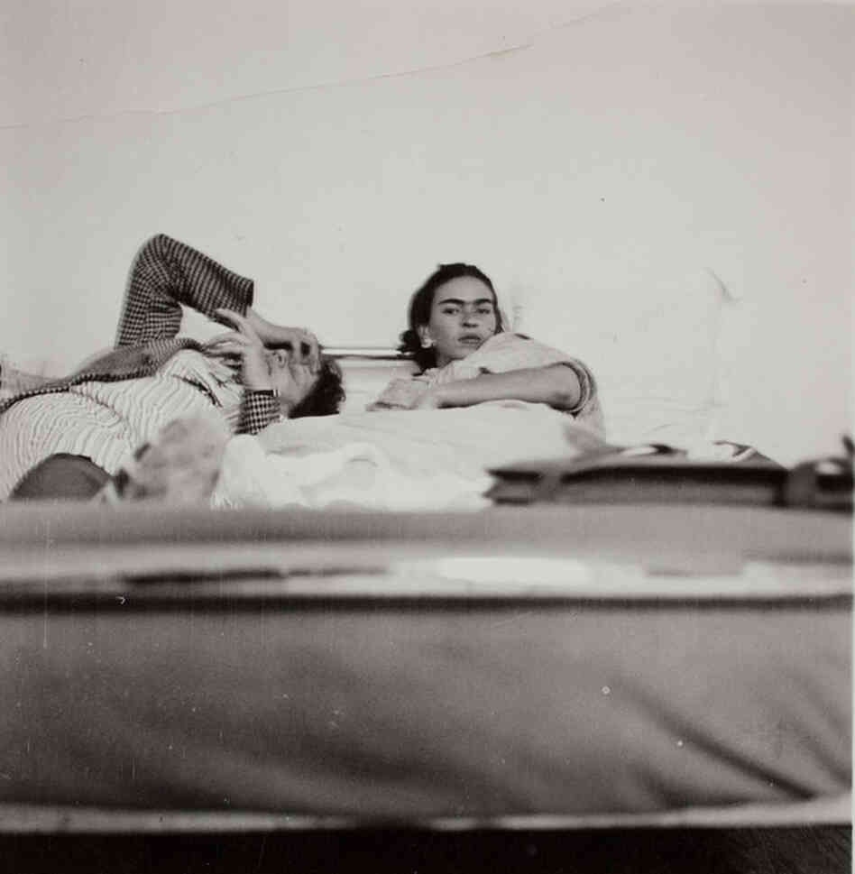 Frida Kahlo and an unidentified person, circa 1930
