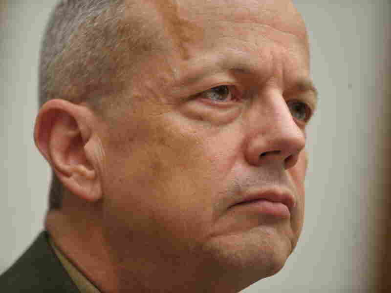 Marine Corps Gen. John Allen during today's hearing.