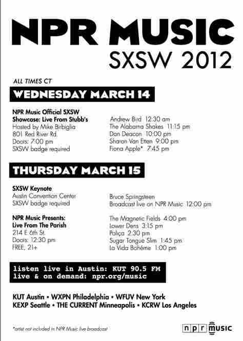 Rundown of NPR Music at SXSW.