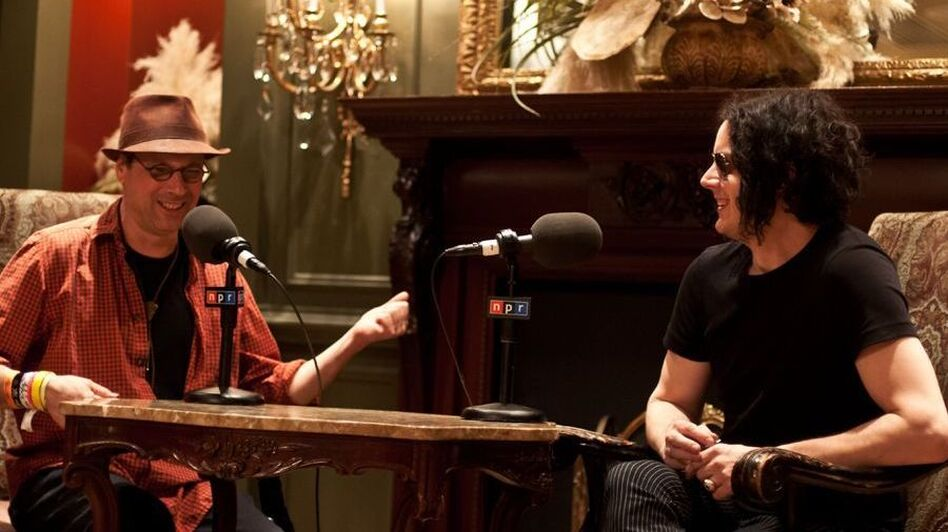 NPR Music's Bob Boilen talking with Jack White while at the SXSW Music Festival 2012 (NPR)