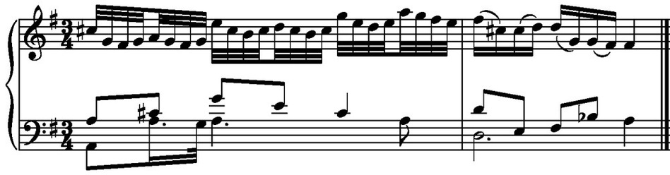 Variation No. 13 - last measures. (J.S. Bach)