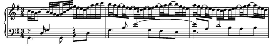 Variation No. 13 - ninth measure. (J.S. Bach)