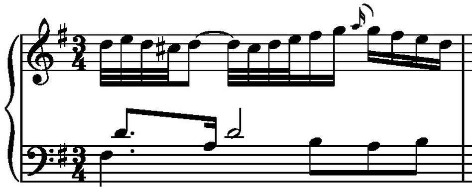 Variation No. 13 - second measure. (J.S. Bach)