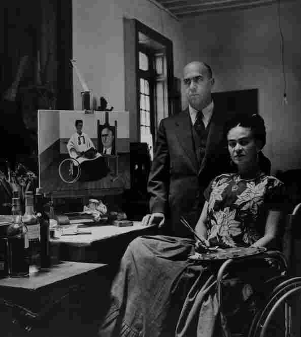 Frida Kahlo with Dr. Juan Farill, 1951