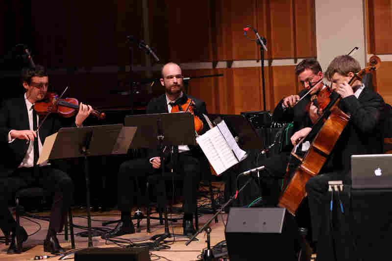 The Calder Quartet, deep in 'Glitch.'.