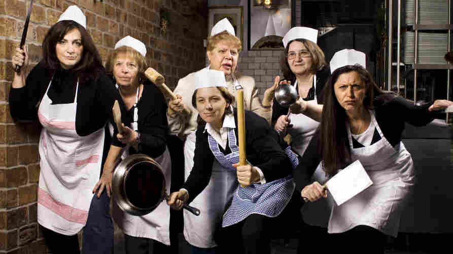 """Several of the """"nonnas,"""" or grandmothers, who cook at the Enoteca Maria Italian restaurant in Staten Island, N.Y."""