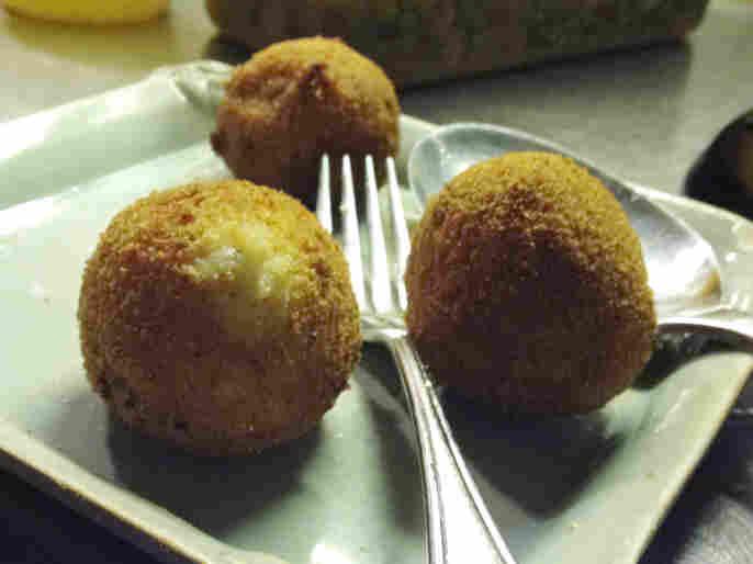 "Enoteca Maria ""nonna"" Giovana Gambino's arancini, or fried rice balls."
