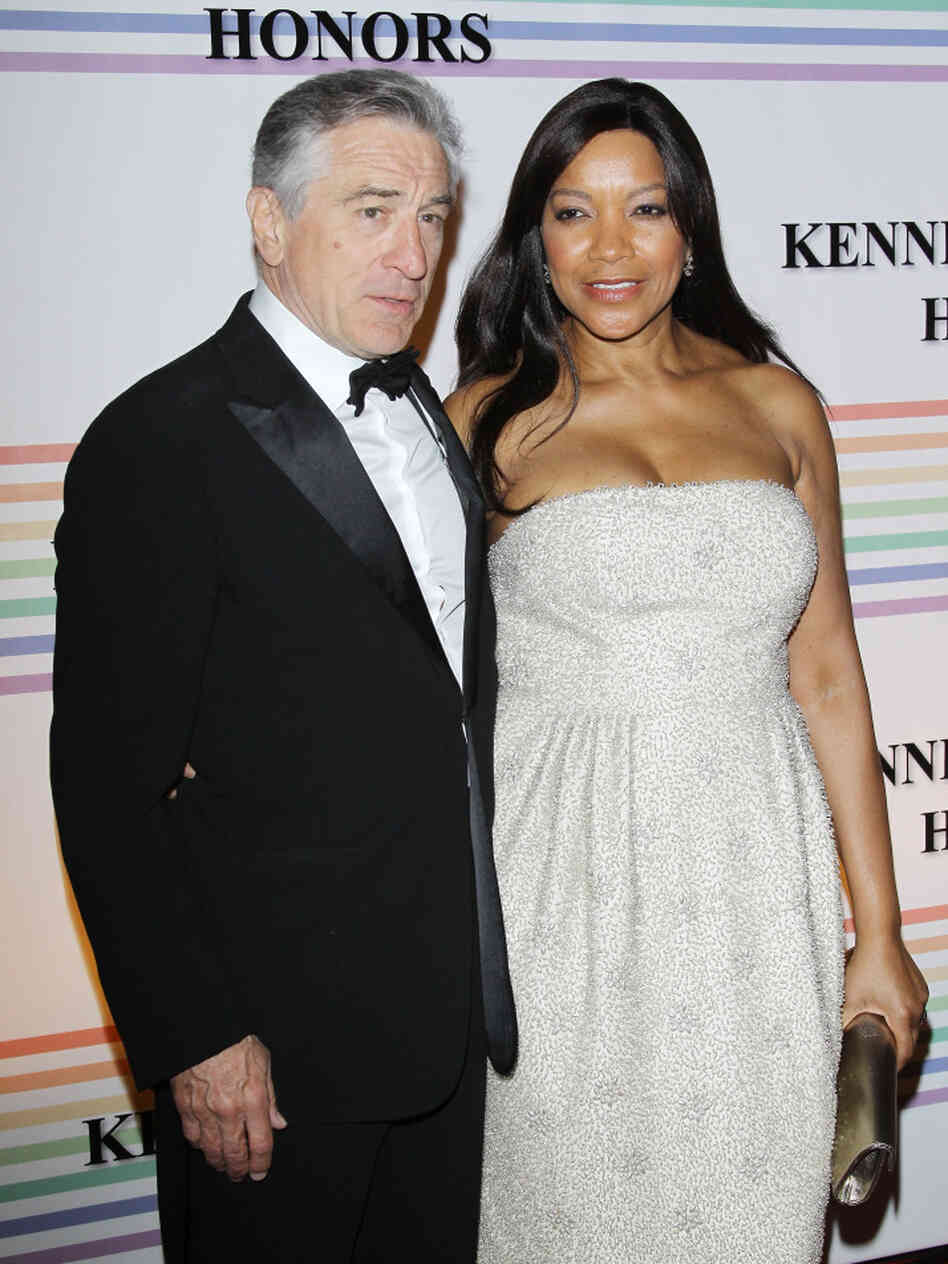 Actor Robert De Niro with his wife, Grace Hightower, in Washington, D.C., on Dec. 4, 2011.