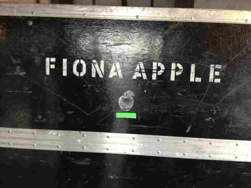 Equipment case belonging to Fiona Apple, who played at NPR Music Showcase: Live From Stubb's.