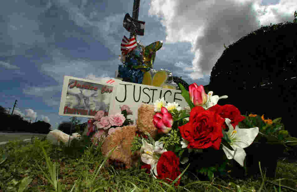 The makeshift memorial for slain teenager Trayvon Martin continues to grow daily outside of the Retreat at Twin Lakes community in Sanford, Florida.