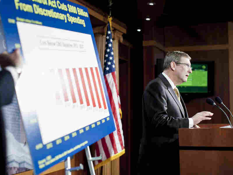 Senate Budget Chairman Kent Conrad, D-N.D., speaks about FY2013 spending levels at a news conference at the Capitol on March 20, 2012 in Washington, D.C. Democrats are expected to challenge the medicare provisions of the H