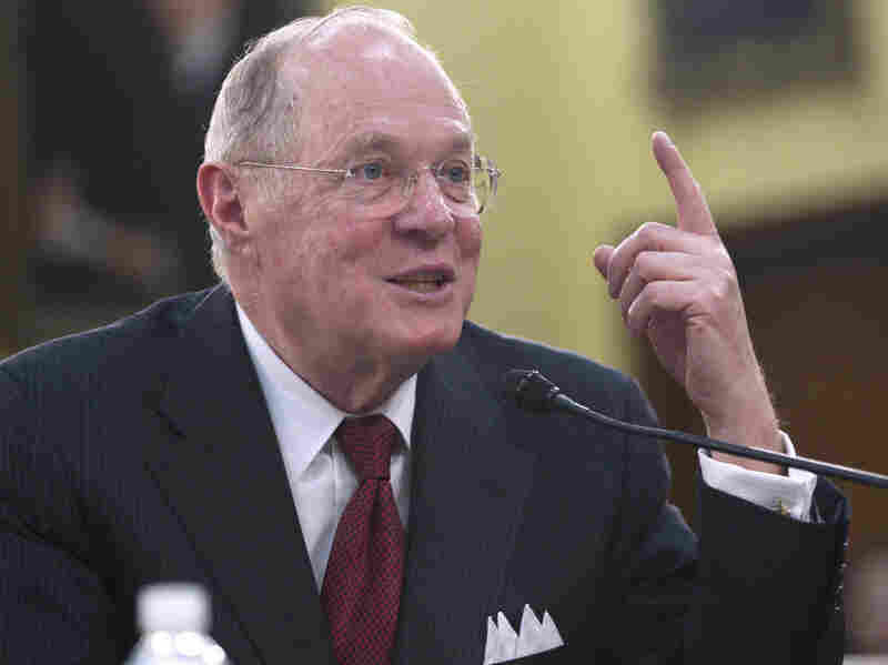 """Supreme Court Justice Anthony Kennedy, shown on Capitol Hill in April 2011, wrote the court's ruling Wednesday that for the most part, plea bargaining determines """"who goes to jail and for how long. It is not some adjunct to the criminal justice system. It is the criminal justice system."""""""