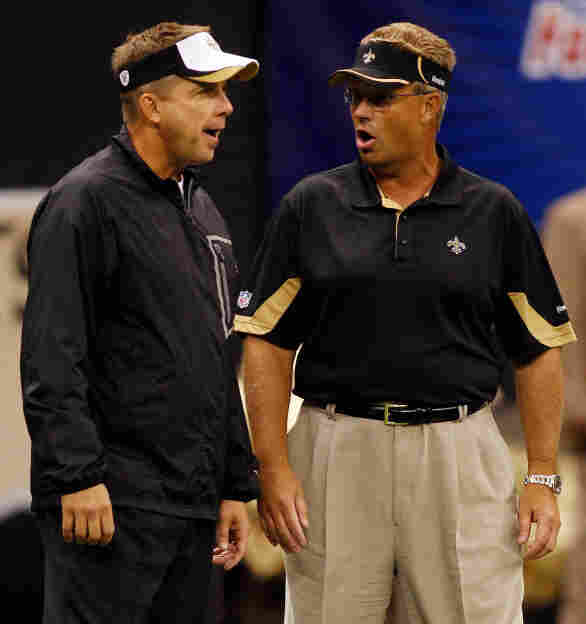 New Orleans Saints head coach Sean Payton, left, and then-defensive coordinator Gregg Williams in August 2010.
