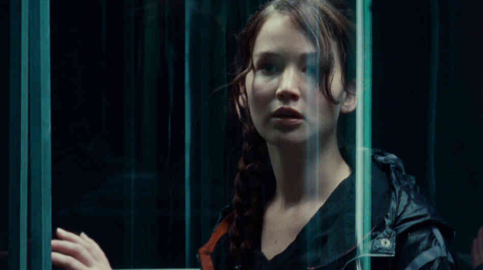 Jennifer Lawrence as Katniss Everdeen in The Hunger Games.