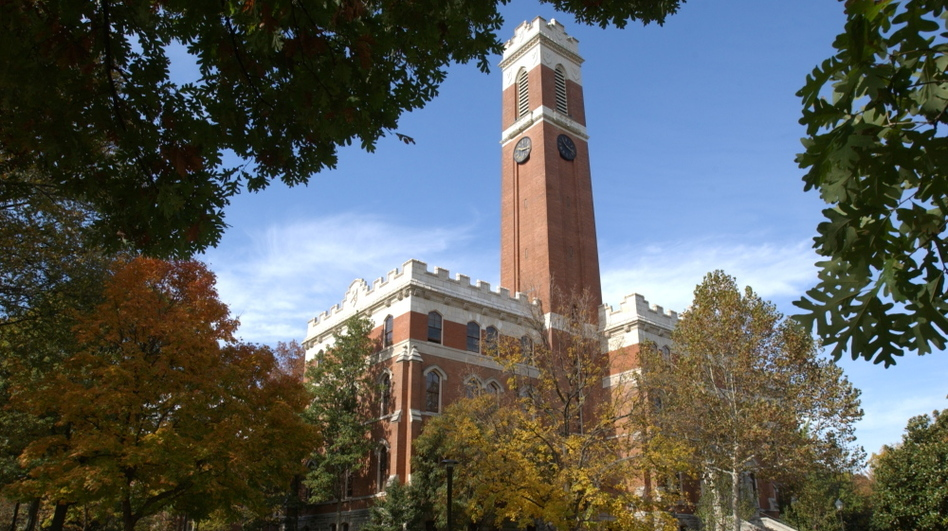 Vanderbilt University's Kirkland Hall. A controversial nondiscrimination policy has roiled the campus.