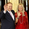 Sheldon and Miriam Adelson attend the opening ceremony of Four Seasons Hotel in Cotai Strip in Macau, Aug. 28, 2008.