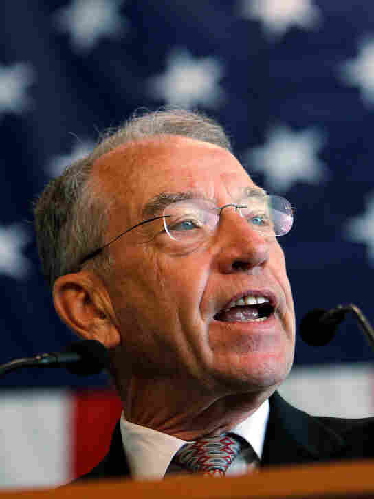 Sen. Chuck Grassley, R-Iowa, shown in August 2011, criticized the STOCK Act that passed Thursday, saying it didn't go far enough.