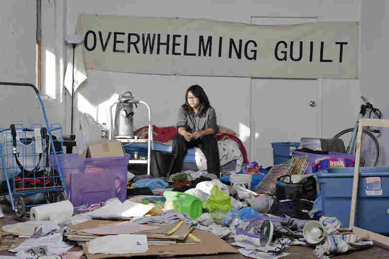 Alice Dan-Ding, 20, apt. F 601: Sitting on the bed of her chaotic room, Dan-Ding is a student at the Maryland Institute College of Arts (MICA) studying sculpture.