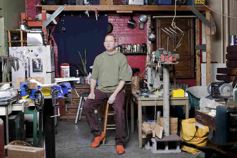David Conroy, 51, apt. C 201: One of the longest tenets of the Copy Cat building, Conroy creates unique jewelry pieces made from hardware. The C 201 room is a workspace with four full-time employees.