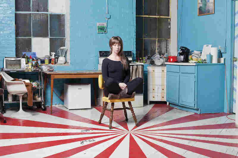 Sigrid Lauren, 25, apt. B 302: Sitting in the brightly painted kitchen, Lauren is a performance artist and actor of theatre plays held within the Copy Cat building