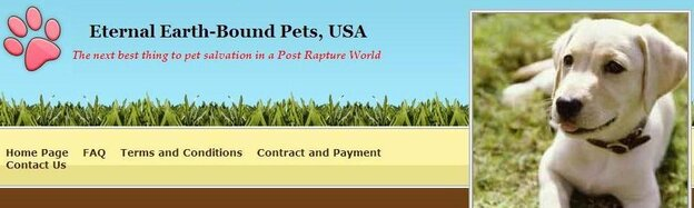 It was all a joke, the man behind Eternal Earth-Bound Pets now says.