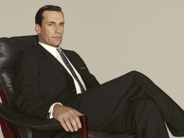 Jon Hamm plays Don Draper on <em>Mad Men</em>, which returns this Sunday night.