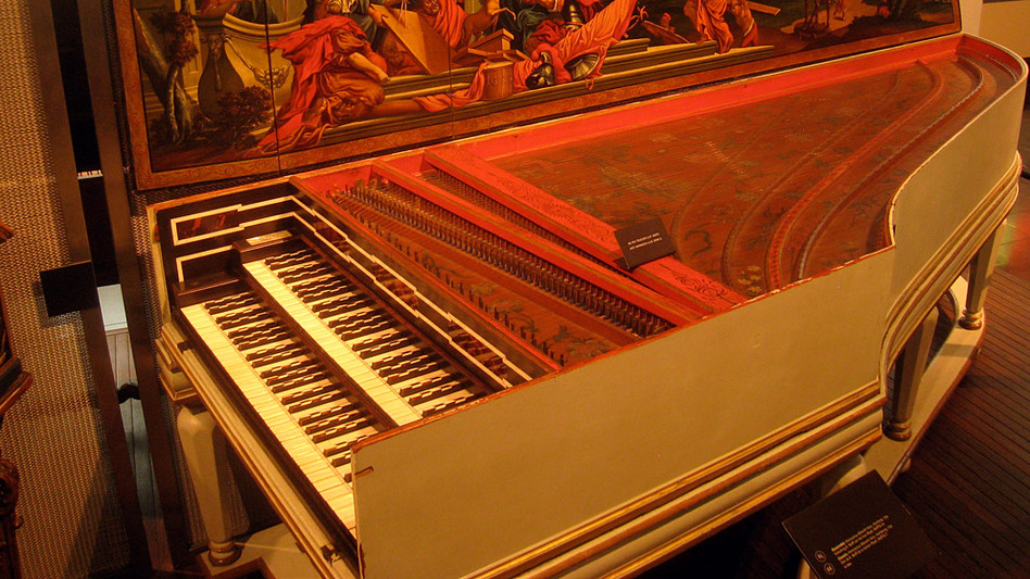 Andreas Staier plays Bach's Goldberg Variations on a copy of this famously grand harpsichord built in 1734 by Hieronymus Albrecht Hass currently housed in Hamburg, Germany.  (Wikimedia Commons)