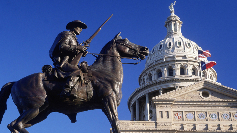 Lone Star Nation: Today, the Texas capitol flies both the American and Texas flags, but after independence the Lone Star flag would fly on its own.  (Getty Images)