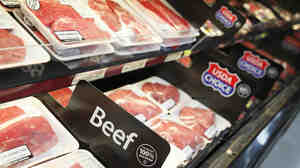 Beef on display at a new Wal-Mart store in Chicago. The retailer announced it will offer consumers meat that does not contain lean finely textured beef.