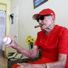 Connie Marrero, age 100, was a major league all-star who struck out the likes of Joe DiMaggio and Mickey Mantle. He returned to his native Cuba after his career ended. He's now the oldest living ex-major leaguer and is finally getting a pension payment. He's shown here at his apartment in Havana.