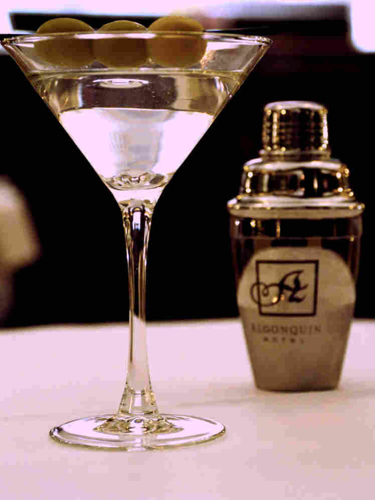 A martini at the New York's Algonquin Hotel, a favorite haunt of the Man Men characters.