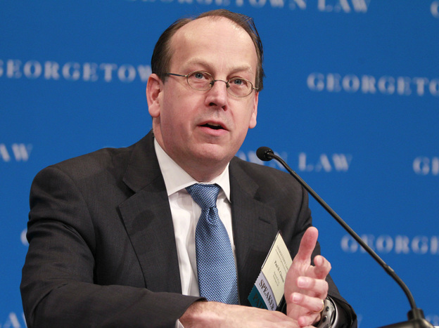 Former Solicitor General Paul D. Clement speaks during a forum at the Georgetown University Law Center on March 9. Clement will be arguing against President Obama's health care act in the Supreme Court next week.