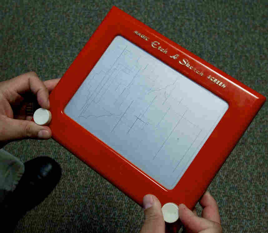 Etch A Sketch: The two with knobs on both sides.