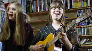 First Aid Kit plays a Tiny Desk Concert at the NPR Music offices on November 18, 2011.