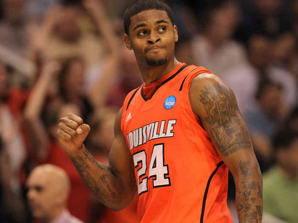 Chane Behanan of the Louisville Cardinals during Thursday's victory over Michigan State.
